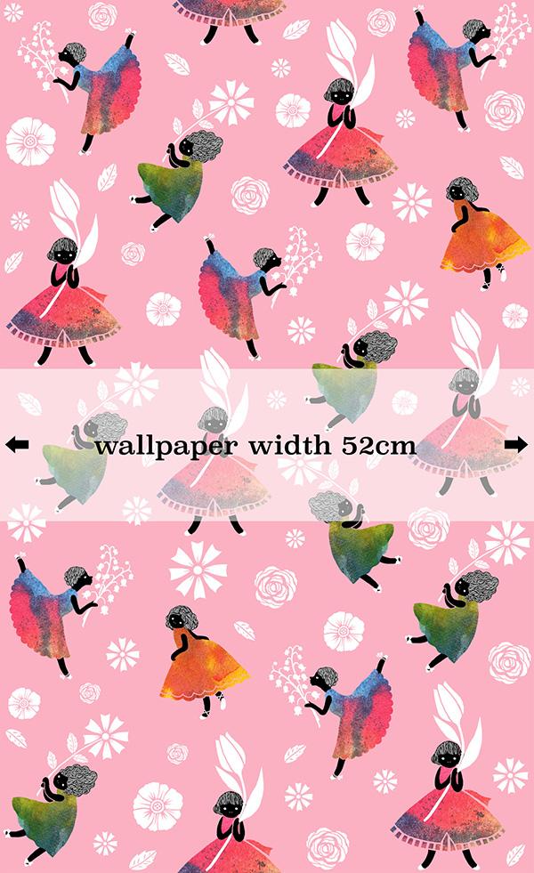 SasandYosh-Flower Girls-Pink - wallpaper 2