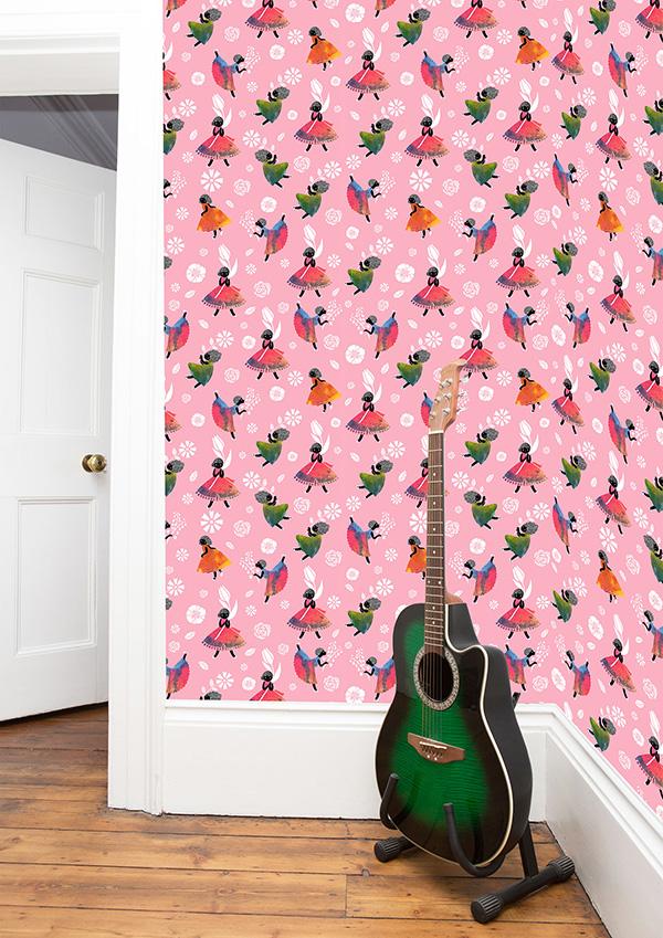 SasandYosh-Flower Girls-Pink - wallpaper 1