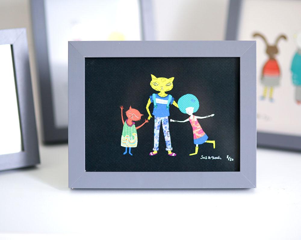 SasandYosh-ArtPrint-Cool Cats Stick Together-1