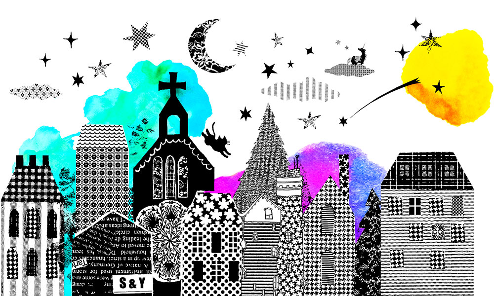 SasandYosh-wallsticker-Night Town-sheet1