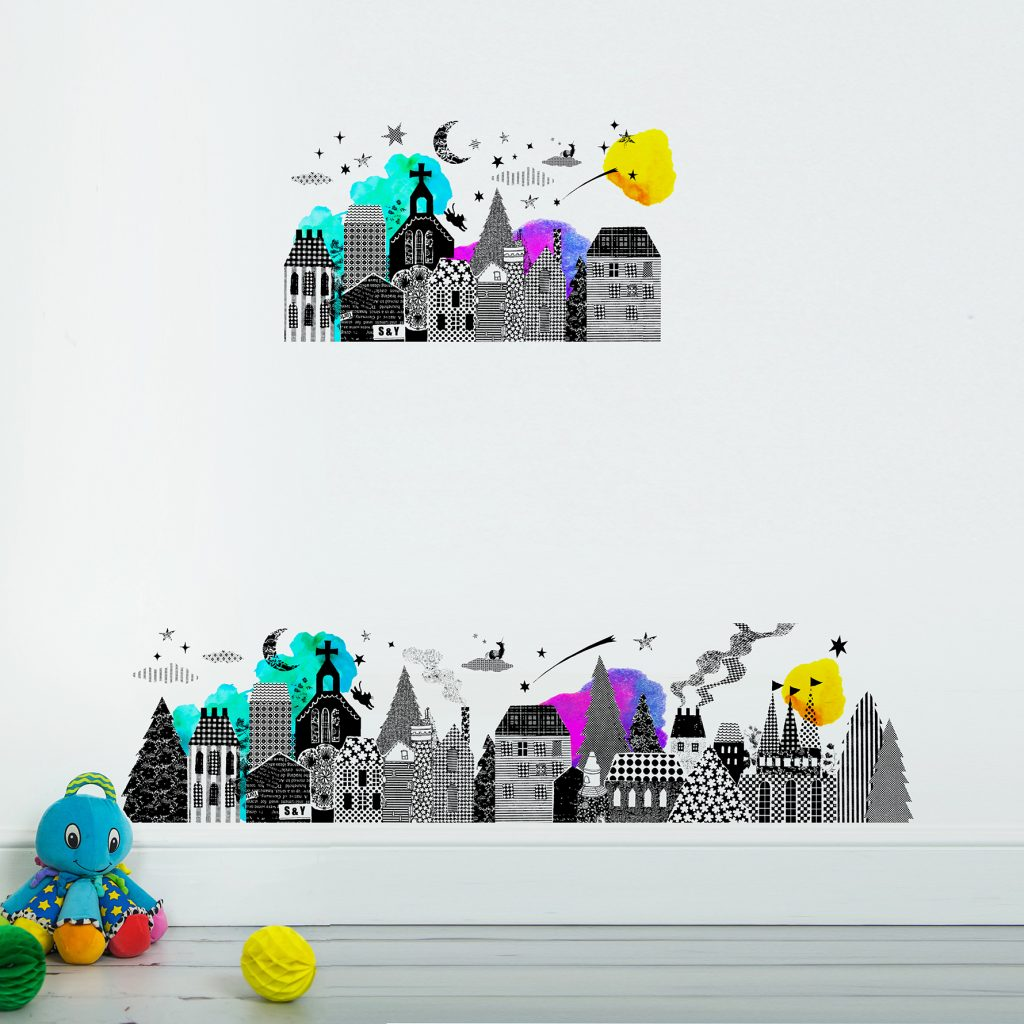 SasandYosh-wallsticker-Night Town-1