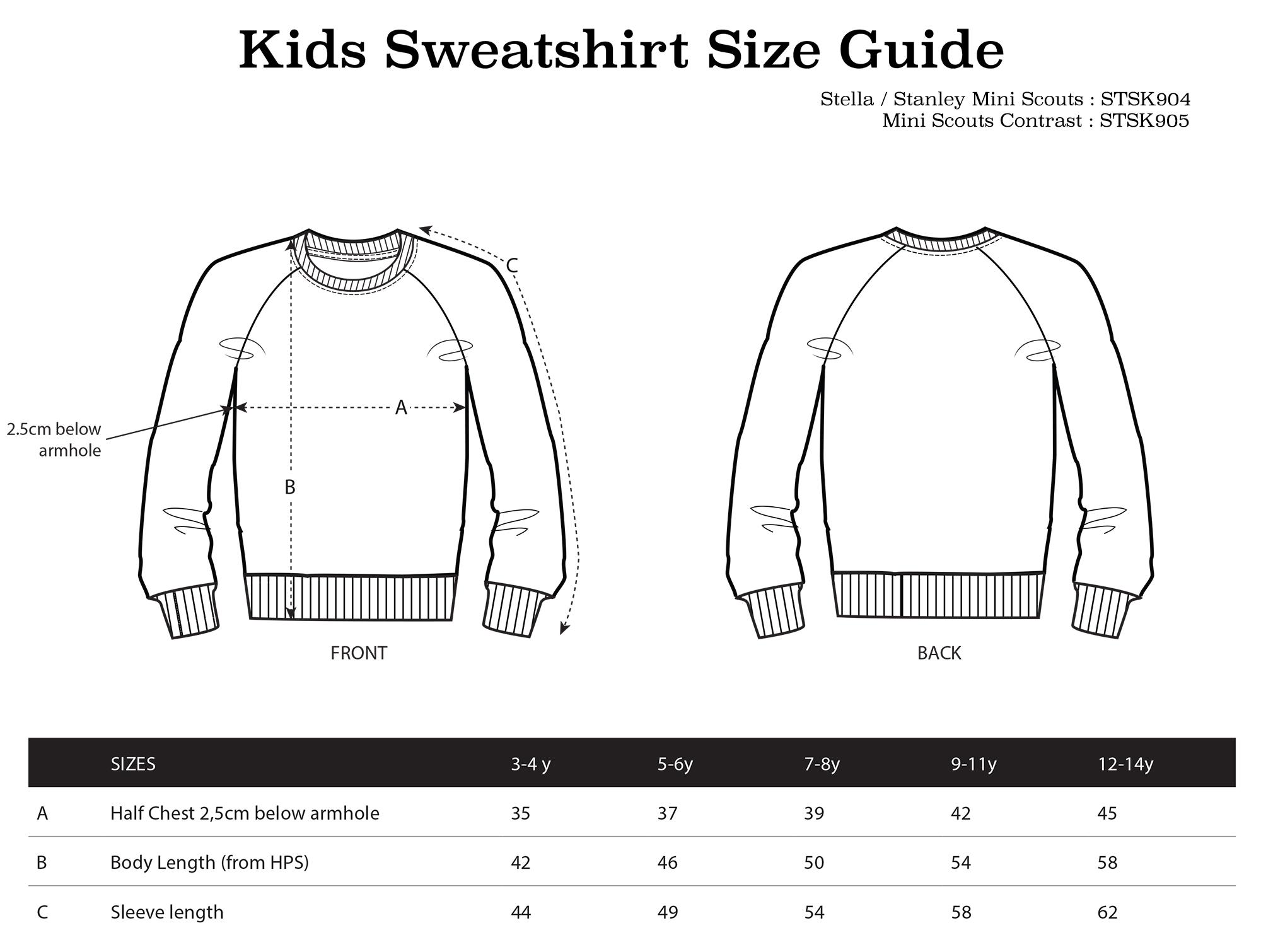 sasandyosh-kids-sweatshirt-sizeguide