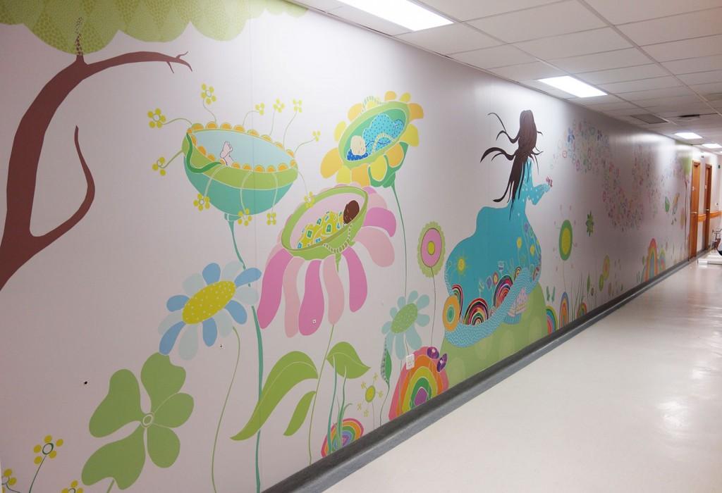 SasandYosh-Mural-Lister Hospital Neo Natal Unit-photo 1