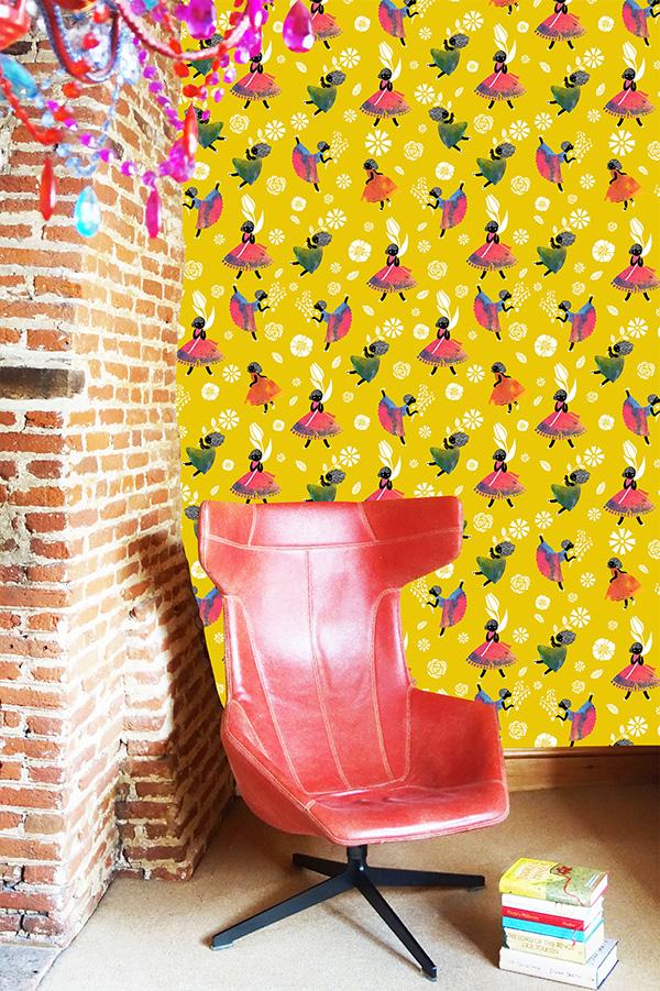 Flower Girls - Yellow - wallpaper-SasandYosh 1