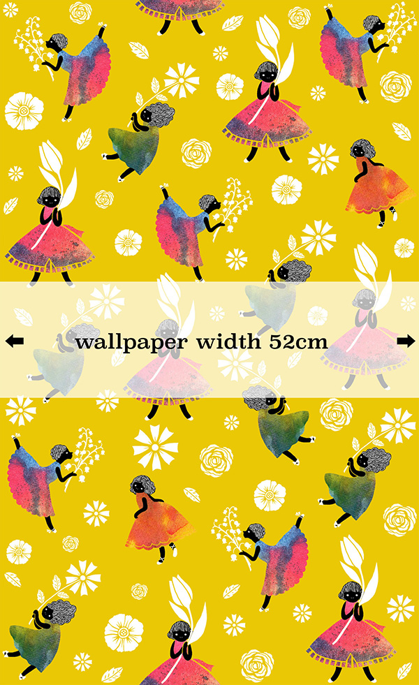 Flower Girls - Yellow - wallpaper-SasandYosh 3